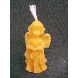 Angel sang with book (beeswax)