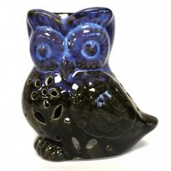 Owl from side Oil Burner blue