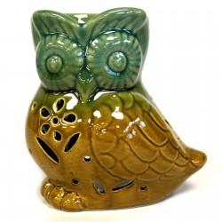 Owl from side Oil Burner green