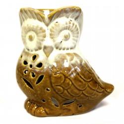 Owl from side Oil Burner grey