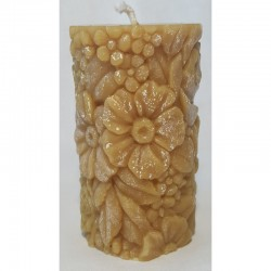 Flowering candle (beeswax)